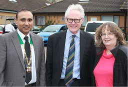 Cllrs Subhan Shafiq and Jenni Ferrans met Cabinet Minister Norman Lamb to discuss a GP for Walton Grange.