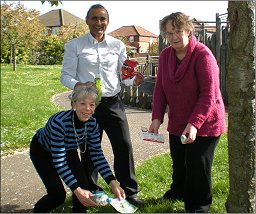 The Focus Team are calling for a litter bin in the play area at Pipston Green, Kents Hill
