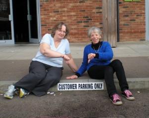 Illegal parking notices at Monkston Park
