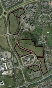 The sites under discussion at Kents Hill
