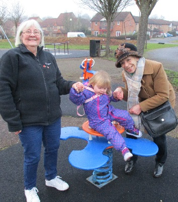 Vanessa got MK Council to repair this equipment at the Studley Knapp, Walnut Tree, playground.